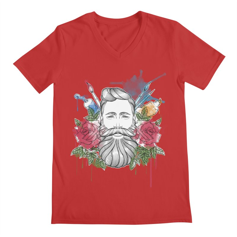 Artist Men's V-Neck by Crazy Pangolin's Artist Shop