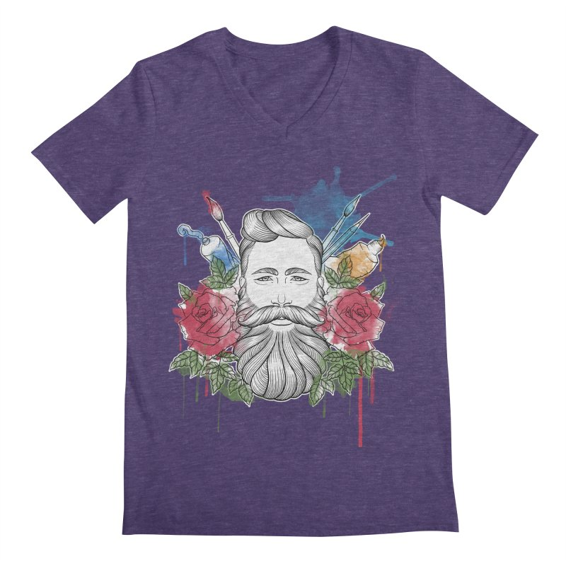 Artist Men's Regular V-Neck by Crazy Pangolin's Artist Shop