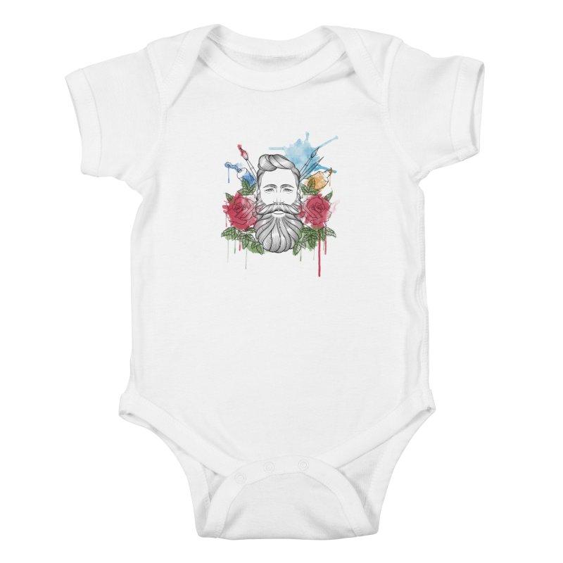 Artist Kids Baby Bodysuit by Crazy Pangolin's Artist Shop