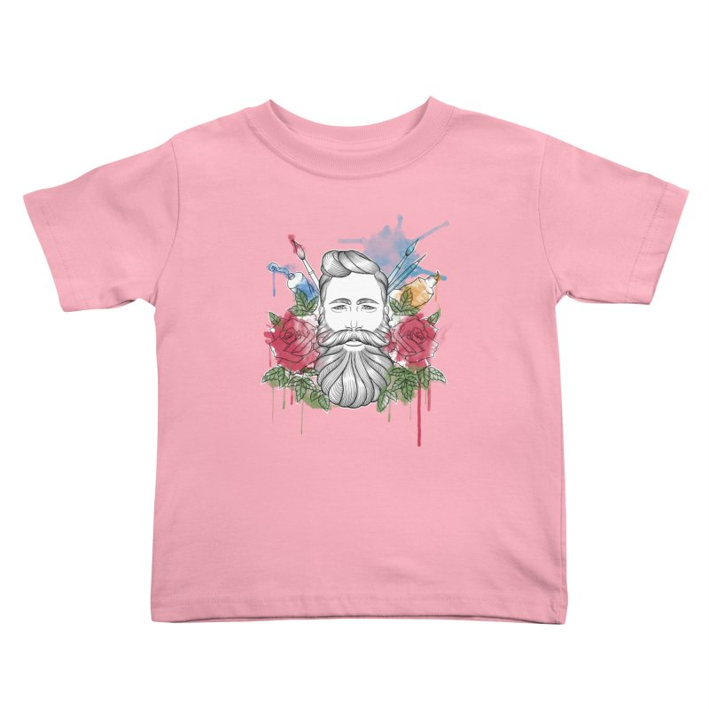 Artist Kids Toddler T-Shirt by Crazy Pangolin's Artist Shop