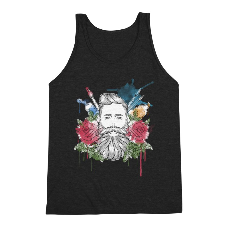 Artist Men's Triblend Tank by Crazy Pangolin's Artist Shop