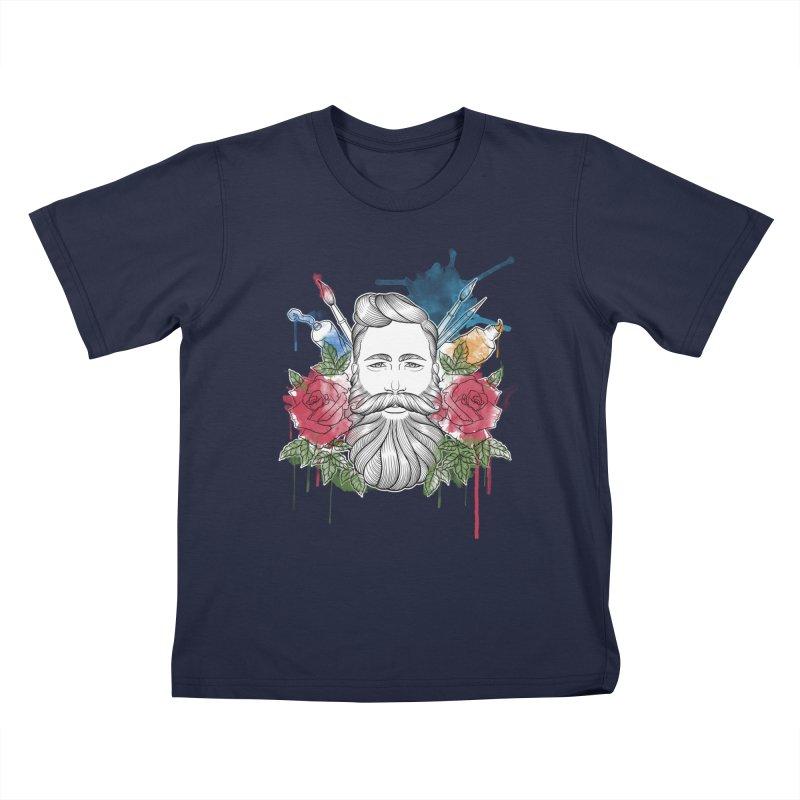 Artist Kids T-Shirt by Crazy Pangolin's Artist Shop