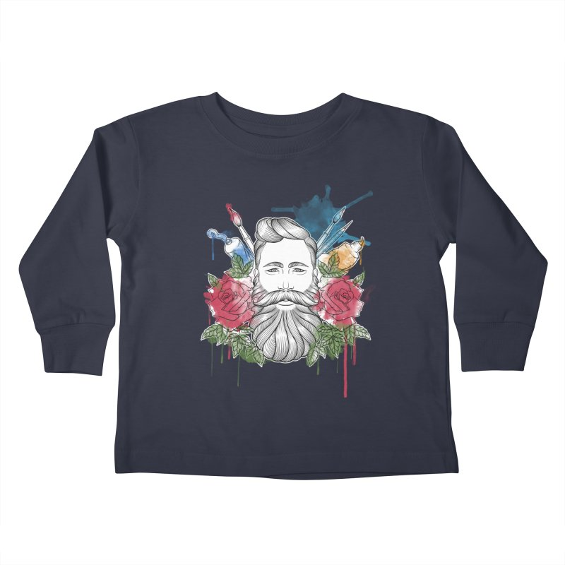 Artist Kids Toddler Longsleeve T-Shirt by Crazy Pangolin's Artist Shop