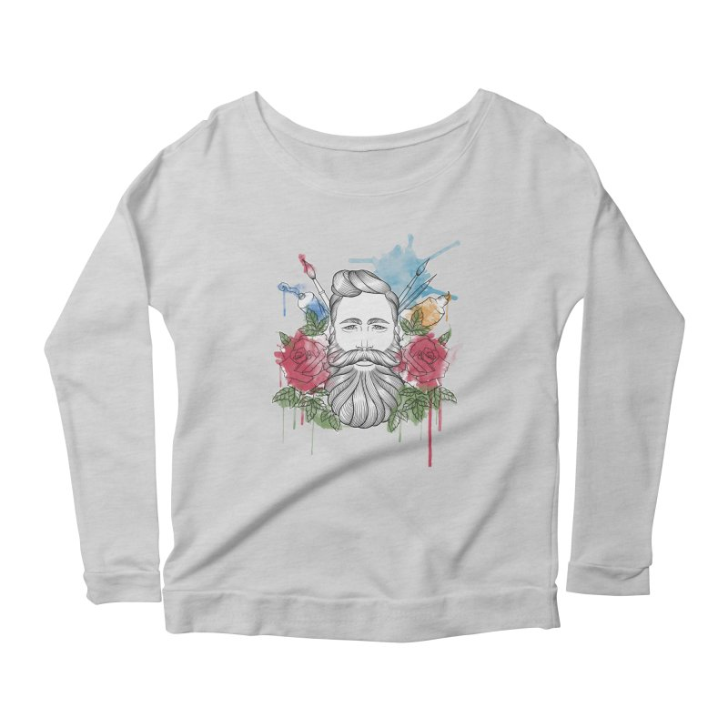 Artist Women's Scoop Neck Longsleeve T-Shirt by Crazy Pangolin's Artist Shop