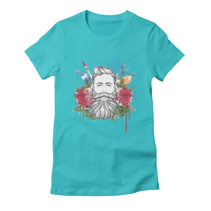 Artist Women's Fitted T-Shirt by Crazy Pangolin's Artist Shop