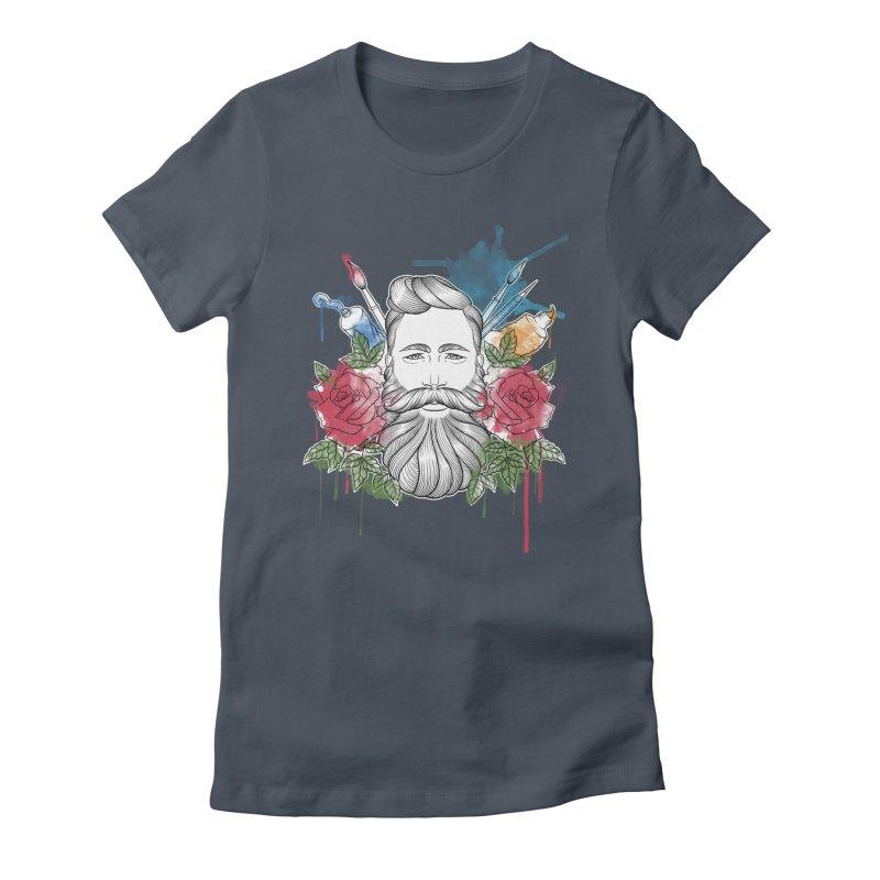 Artist Women's Fitted T-Shirt by Crazy Pangolin's Artist Shop