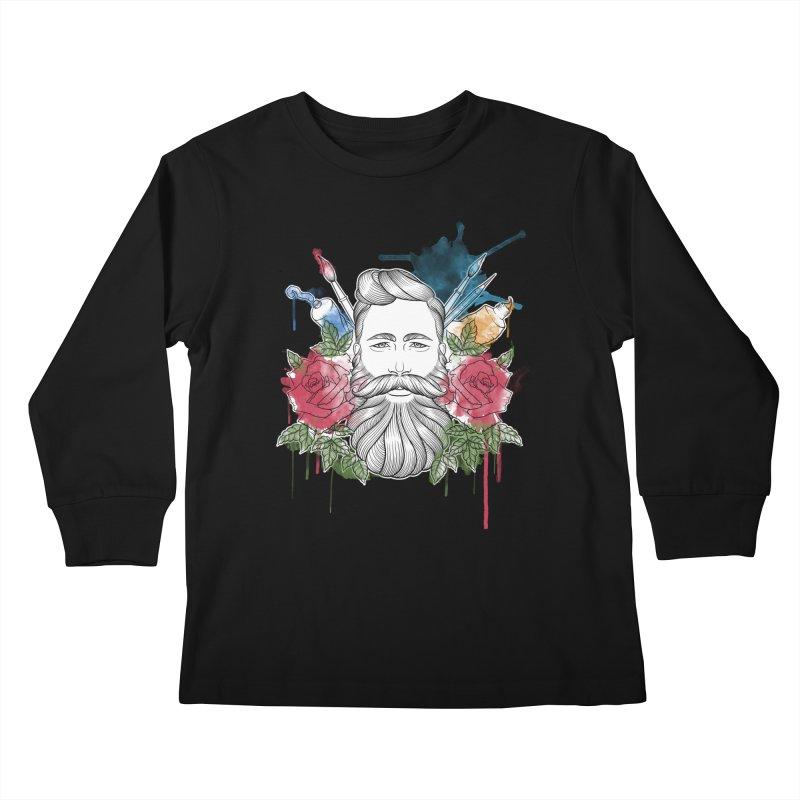 Artist Kids Longsleeve T-Shirt by Crazy Pangolin's Artist Shop