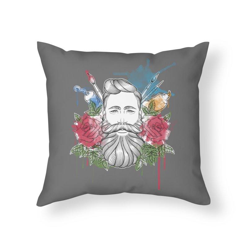 Artist Home Throw Pillow by Crazy Pangolin's Artist Shop
