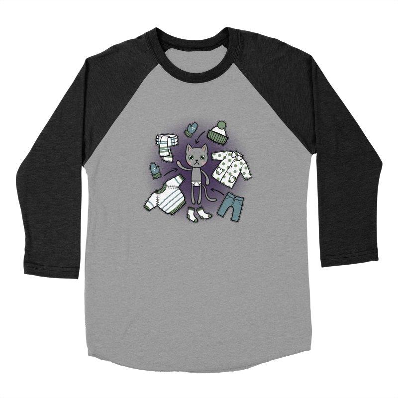 Hello winter... Men's Baseball Triblend Longsleeve T-Shirt by Crazy Pangolin's Artist Shop