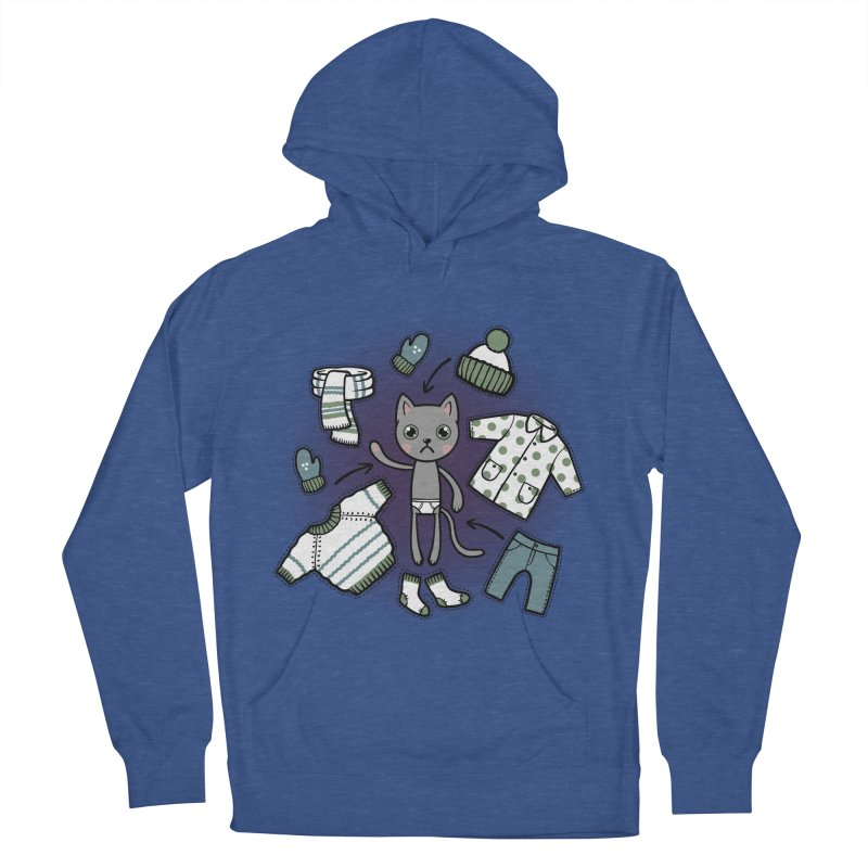 Hello winter... Women's French Terry Pullover Hoody by Crazy Pangolin's Artist Shop
