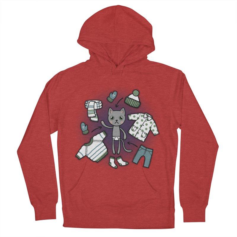 Hello winter... Women's Pullover Hoody by Crazy Pangolin's Artist Shop