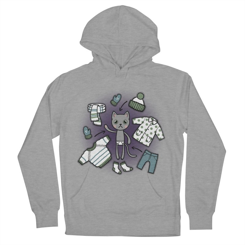 Hello winter... Men's French Terry Pullover Hoody by Crazy Pangolin's Artist Shop