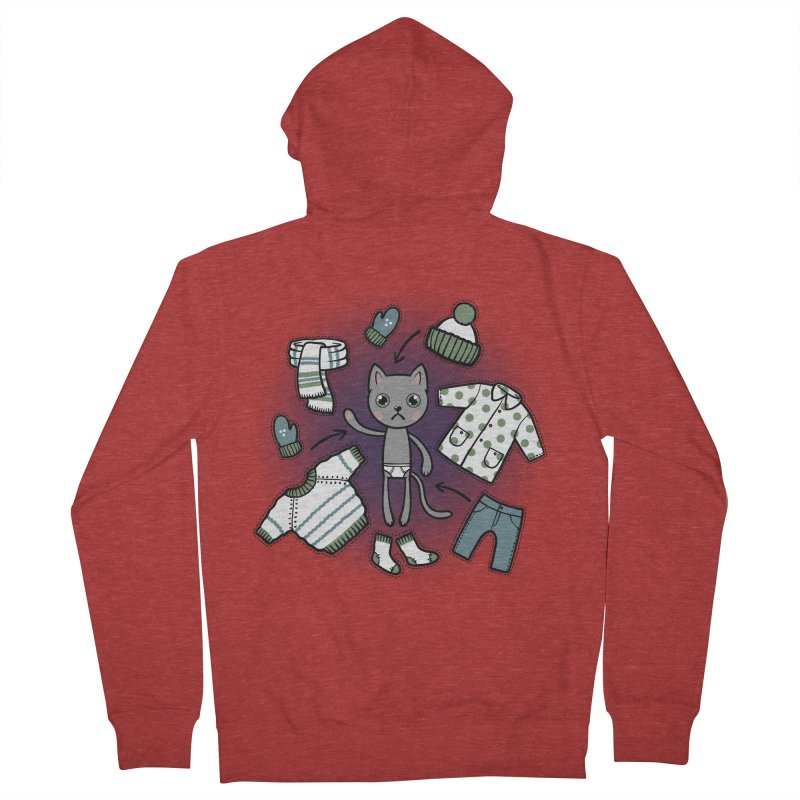 Hello winter... Women's French Terry Zip-Up Hoody by Crazy Pangolin's Artist Shop