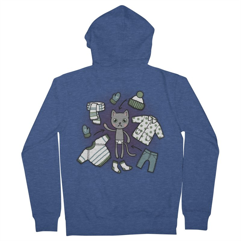 Hello winter... Men's French Terry Zip-Up Hoody by Crazy Pangolin's Artist Shop