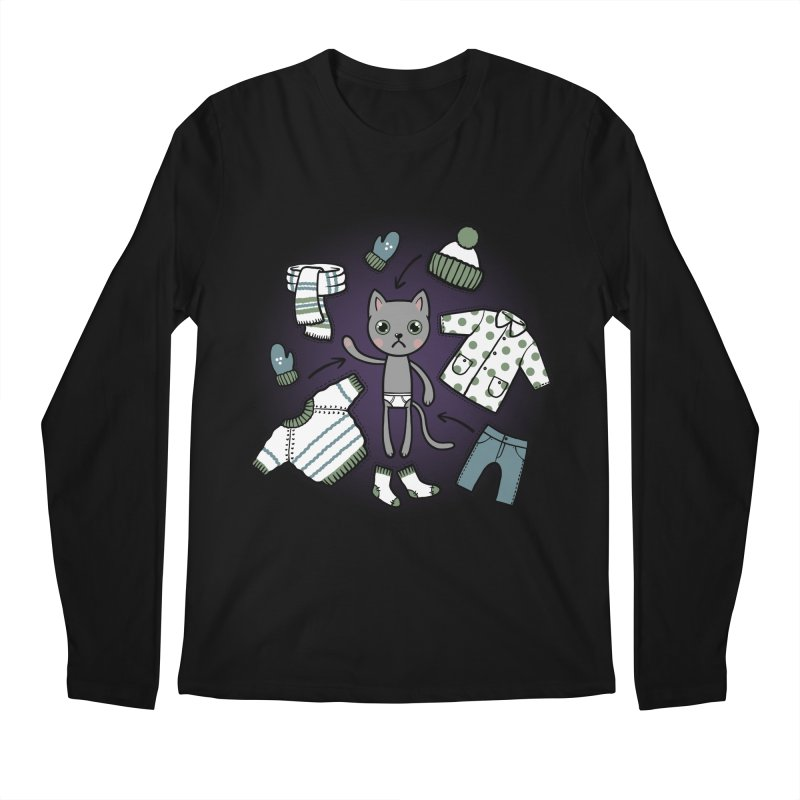 Hello winter... Men's Regular Longsleeve T-Shirt by Crazy Pangolin's Artist Shop