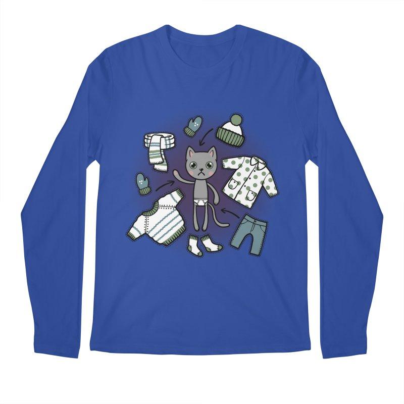 Hello winter... Men's Regular Longsleeve T-Shirt by Crazy Pangolin's Artist Shop
