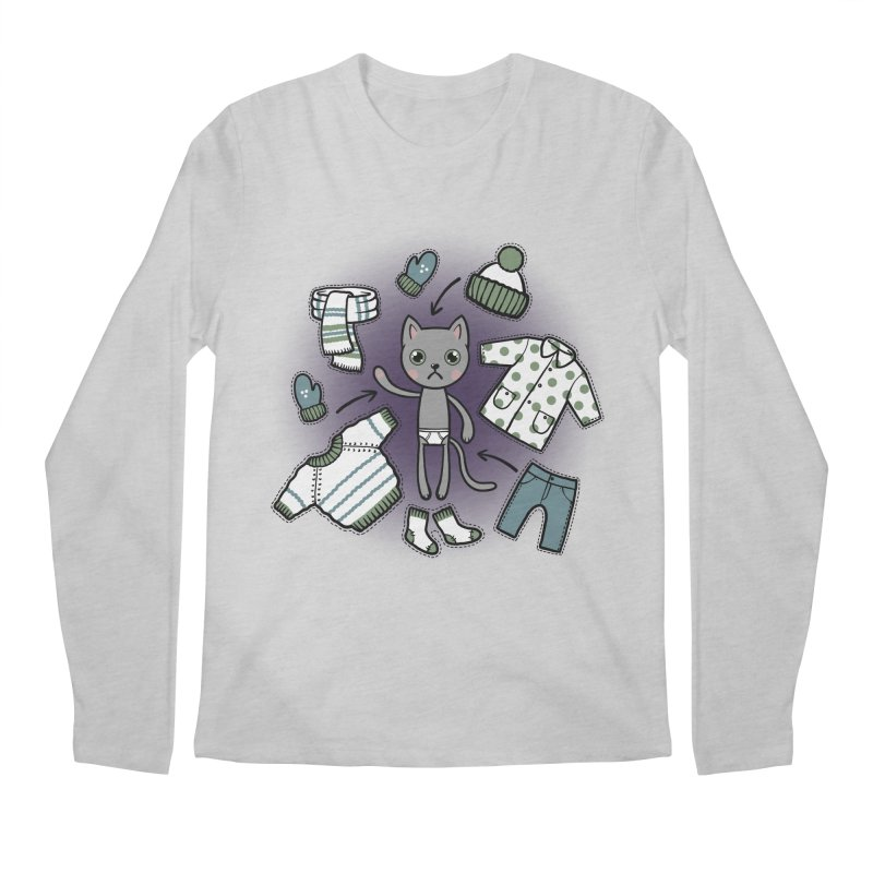 Hello winter... Men's Longsleeve T-Shirt by Crazy Pangolin's Artist Shop