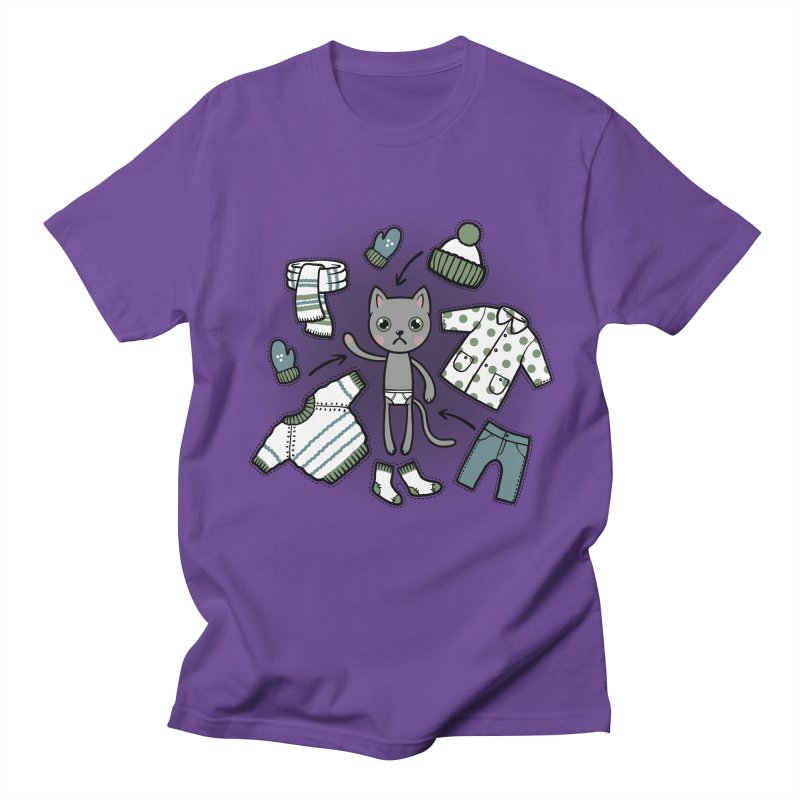 Hello winter... Women's Unisex T-Shirt by Crazy Pangolin's Artist Shop
