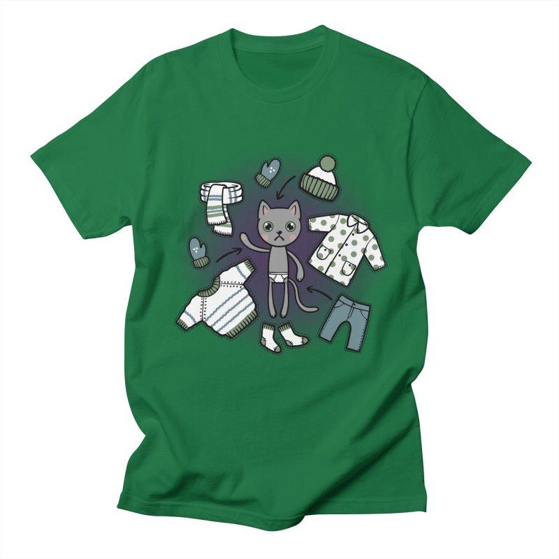 Hello winter... Men's Regular T-Shirt by Crazy Pangolin's Artist Shop