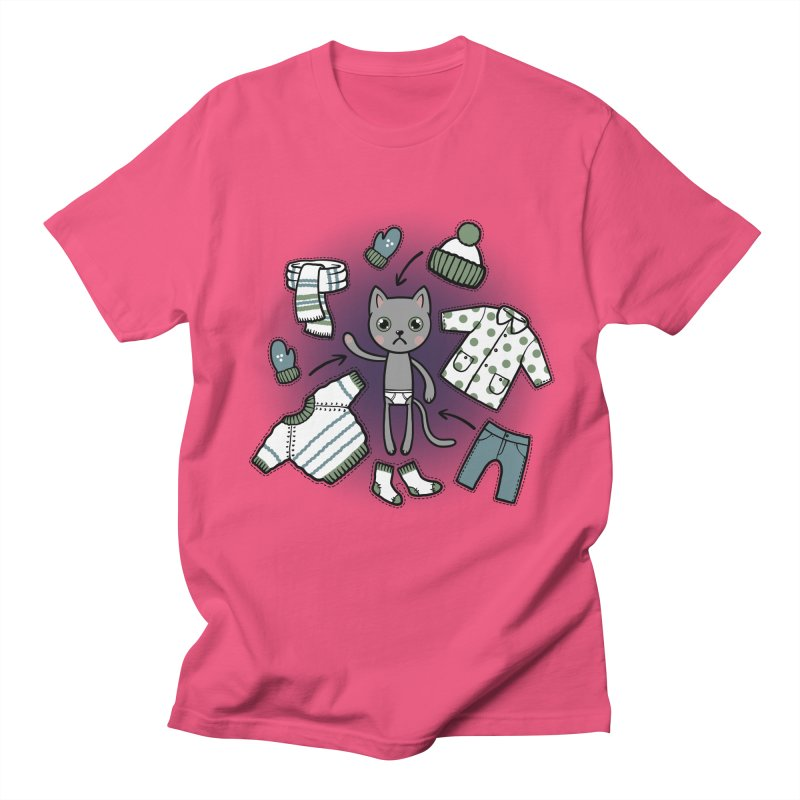 Hello winter... Women's Regular Unisex T-Shirt by Crazy Pangolin's Artist Shop