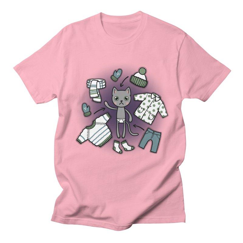 Hello winter... Men's T-Shirt by Crazy Pangolin's Artist Shop