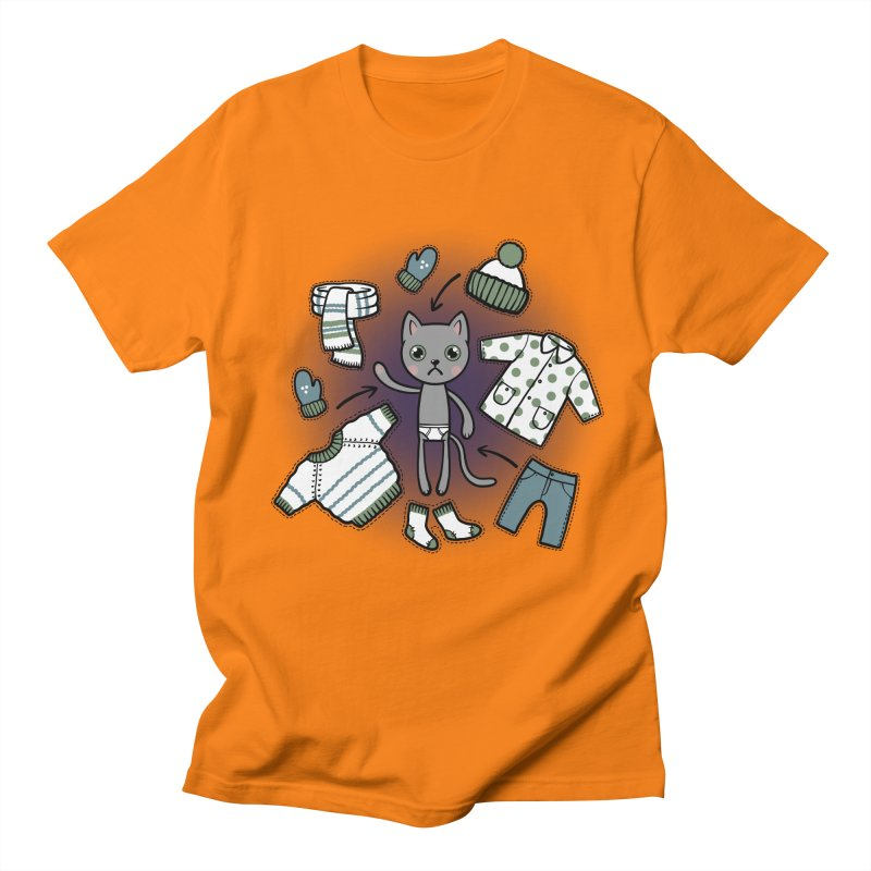 Hello winter... Women's Regular Unisex T-Shirt by Crazy Pangolin's Artist Shop