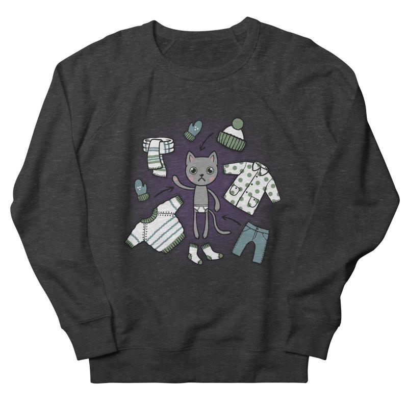 Hello winter... Women's French Terry Sweatshirt by Crazy Pangolin's Artist Shop