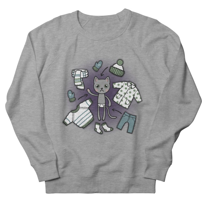 Hello winter... Women's French Terry Sweatshirt by Crazy Pangolin's Artist Shop