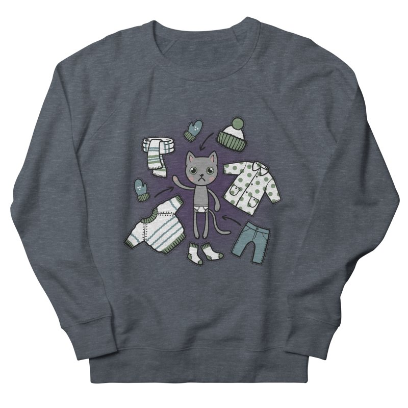 Hello winter... Men's Sweatshirt by Crazy Pangolin's Artist Shop