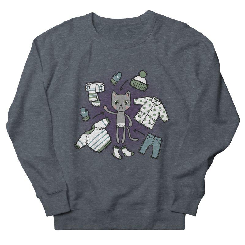 Hello winter... Men's French Terry Sweatshirt by Crazy Pangolin's Artist Shop