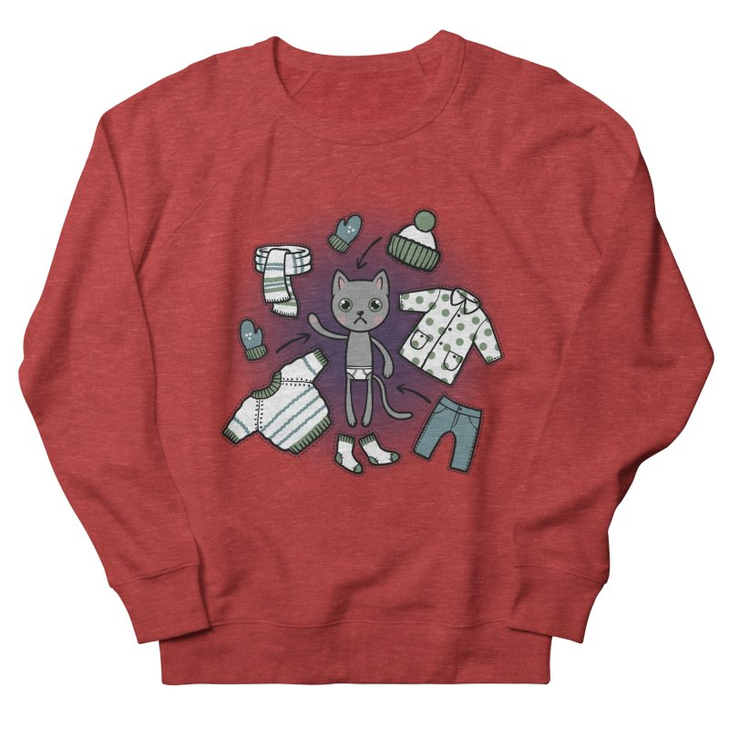 Hello winter... Men's French Terry Sweatshirt by Crazy Pangolin's Artist Shop
