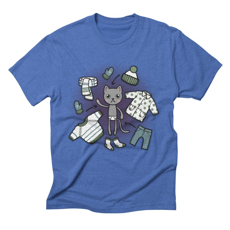Hello winter... Men's Triblend T-Shirt by Crazy Pangolin's Artist Shop