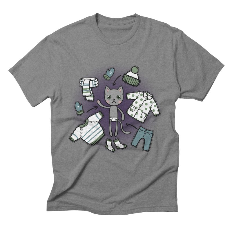 Hello winter... Men's Triblend T-Shirt by Crazy Pangolin's Artist Shop