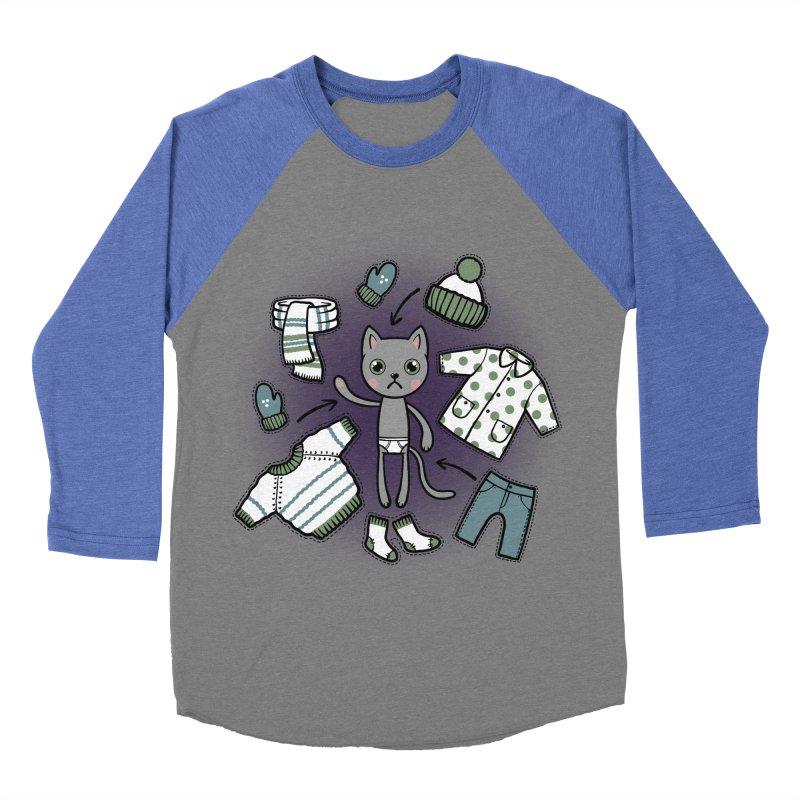 Hello winter... Women's Baseball Triblend T-Shirt by Crazy Pangolin's Artist Shop