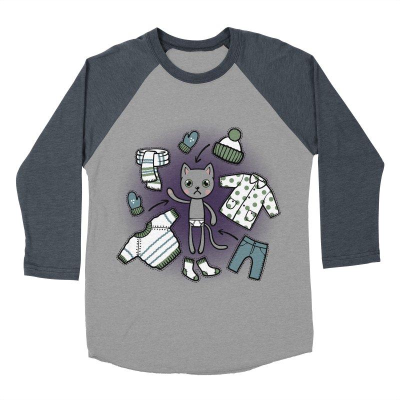Hello winter... Women's Baseball Triblend Longsleeve T-Shirt by Crazy Pangolin's Artist Shop