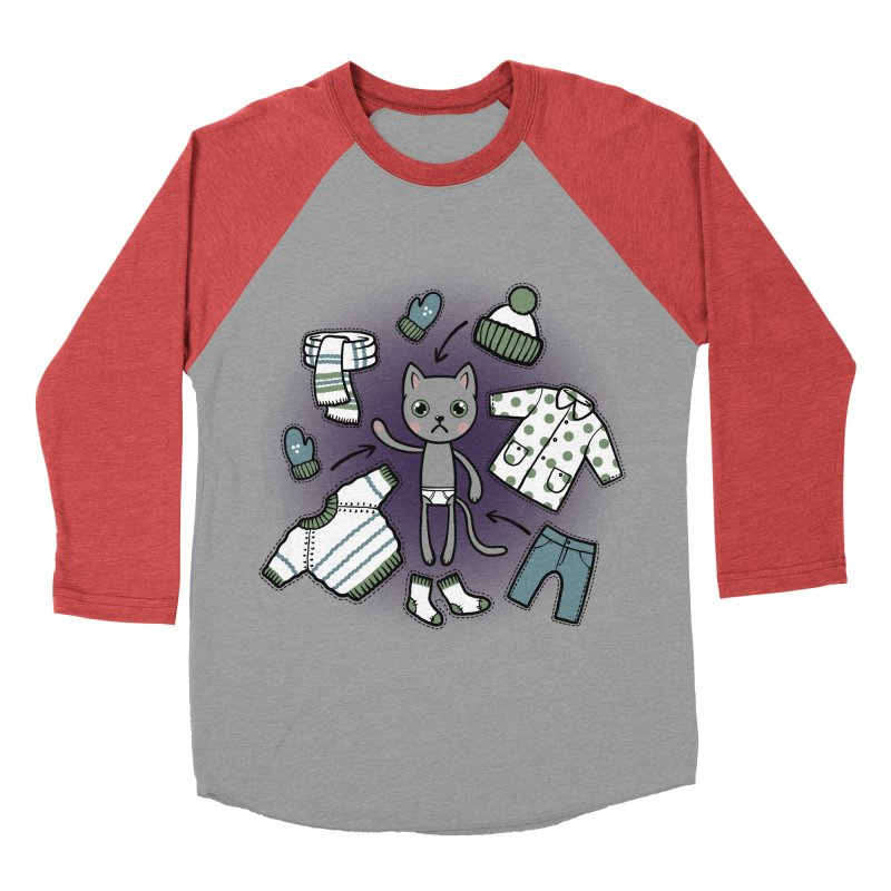 Hello winter... Men's Baseball Triblend Longsleeve T-Shirt by Crazy Pangolin's Artist Shop