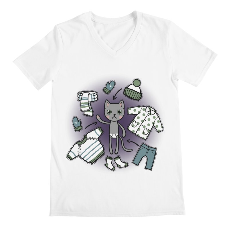 Hello winter... Men's V-Neck by Crazy Pangolin's Artist Shop