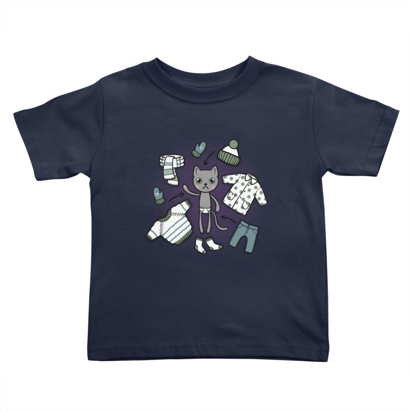 Hello winter... Kids Toddler T-Shirt by Crazy Pangolin's Artist Shop