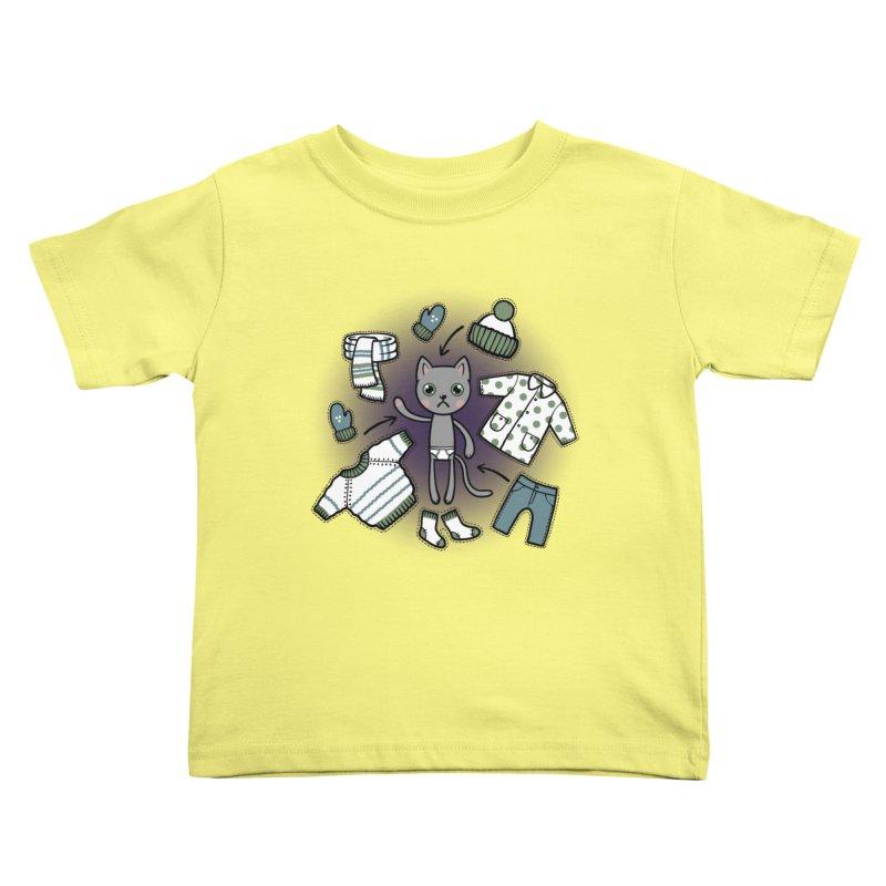 Hello winter... Kids Toddler T-Shirt by Crazy Pangolin's Artist Shop
