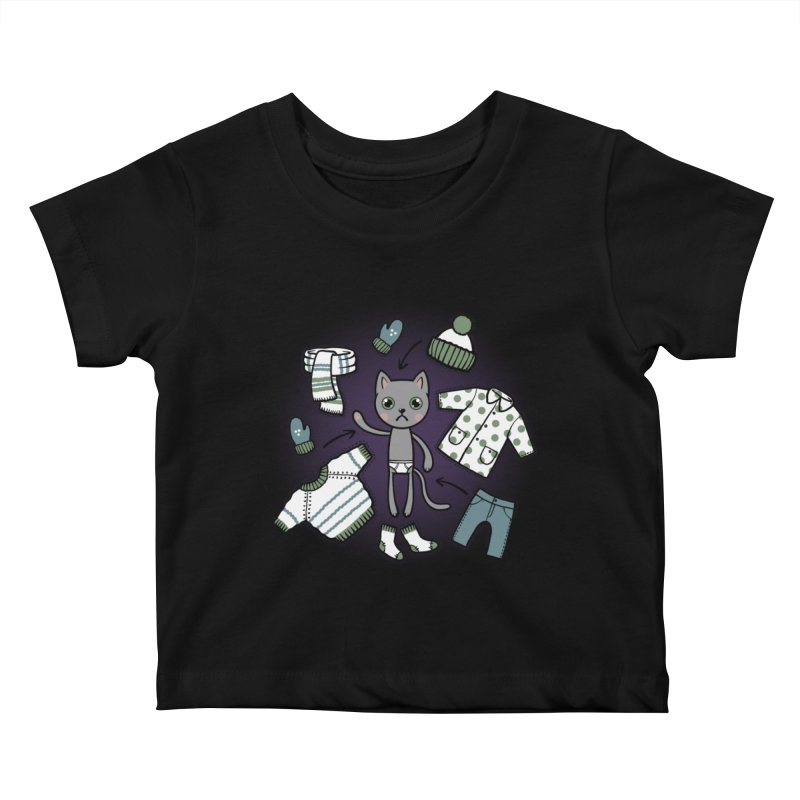 Hello winter... Kids Baby T-Shirt by Crazy Pangolin's Artist Shop