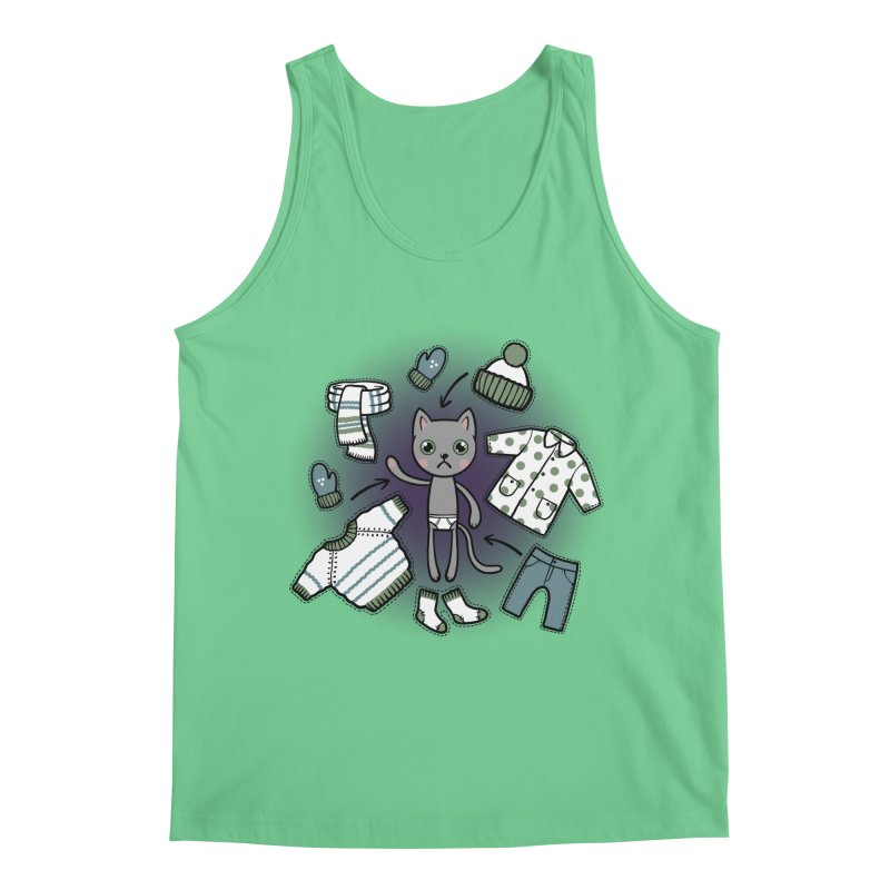 Hello winter... Men's Regular Tank by Crazy Pangolin's Artist Shop