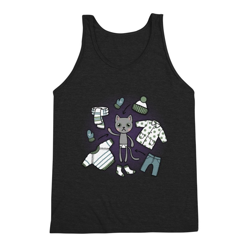 Hello winter... Men's Triblend Tank by Crazy Pangolin's Artist Shop