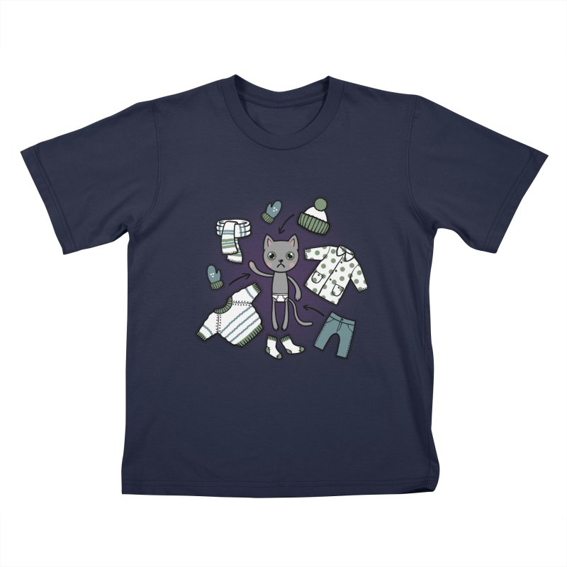 Hello winter... Kids T-Shirt by Crazy Pangolin's Artist Shop
