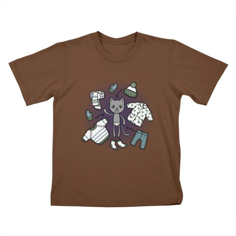 Hello winter... Kids T-Shirt by Crazy Pangolin's Artist Shop