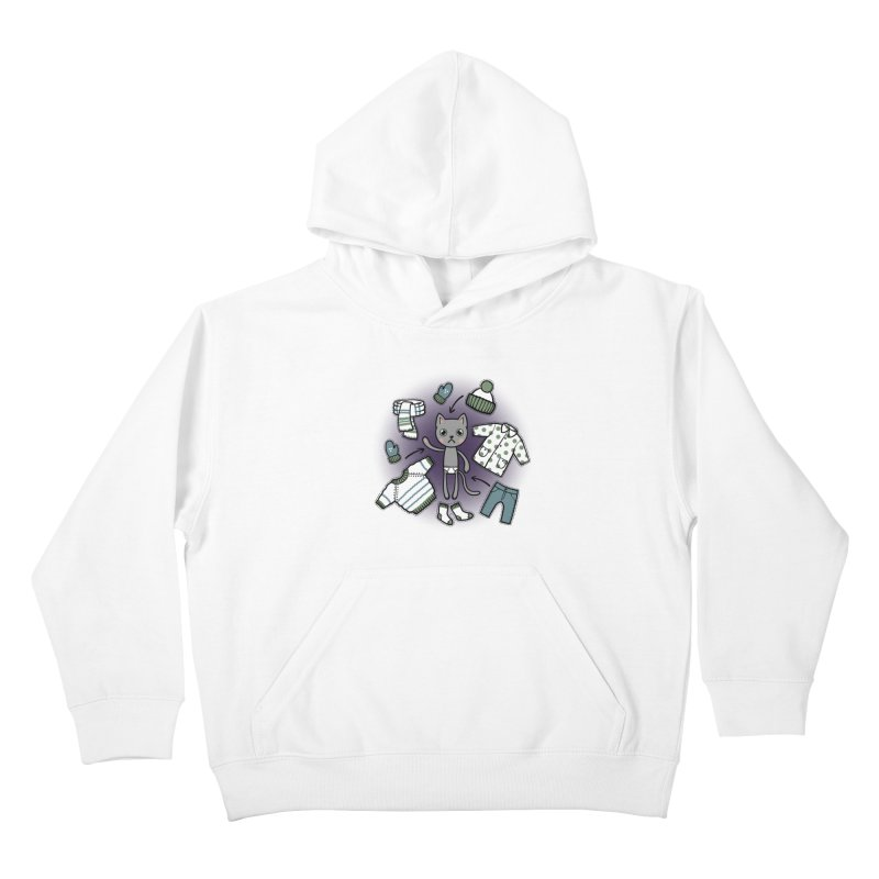Hello winter... Kids Pullover Hoody by Crazy Pangolin's Artist Shop