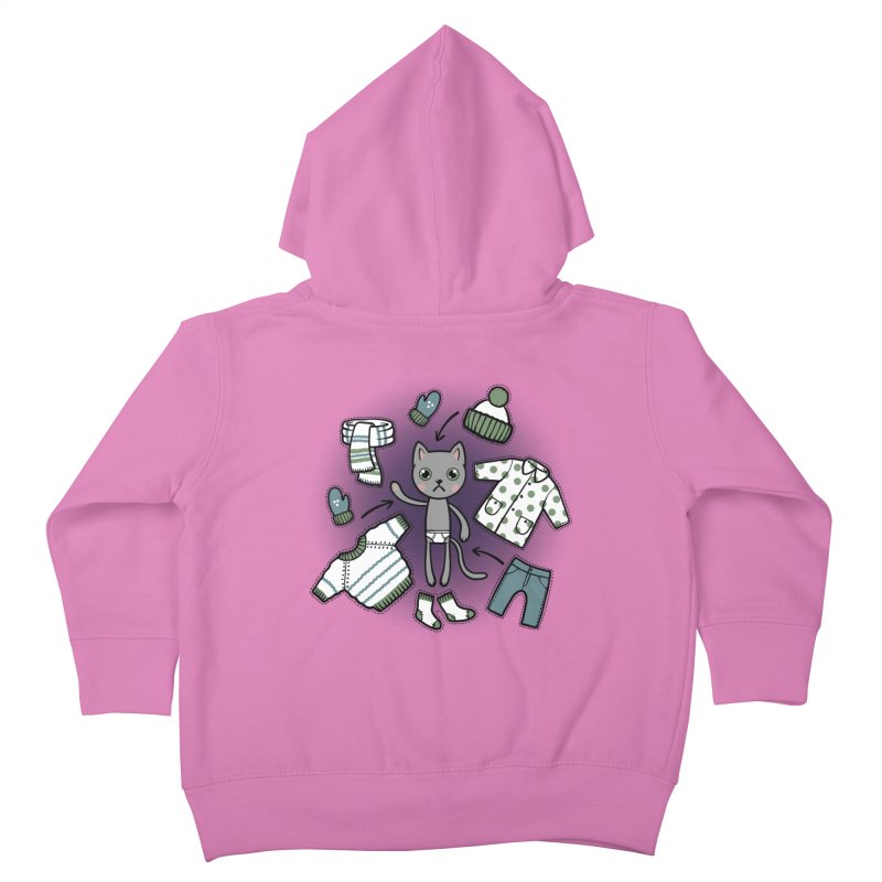 Hello winter... Kids Toddler Zip-Up Hoody by Crazy Pangolin's Artist Shop