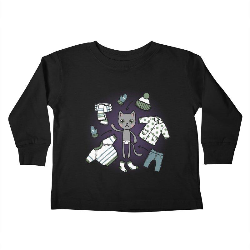 Hello winter... Kids Toddler Longsleeve T-Shirt by Crazy Pangolin's Artist Shop