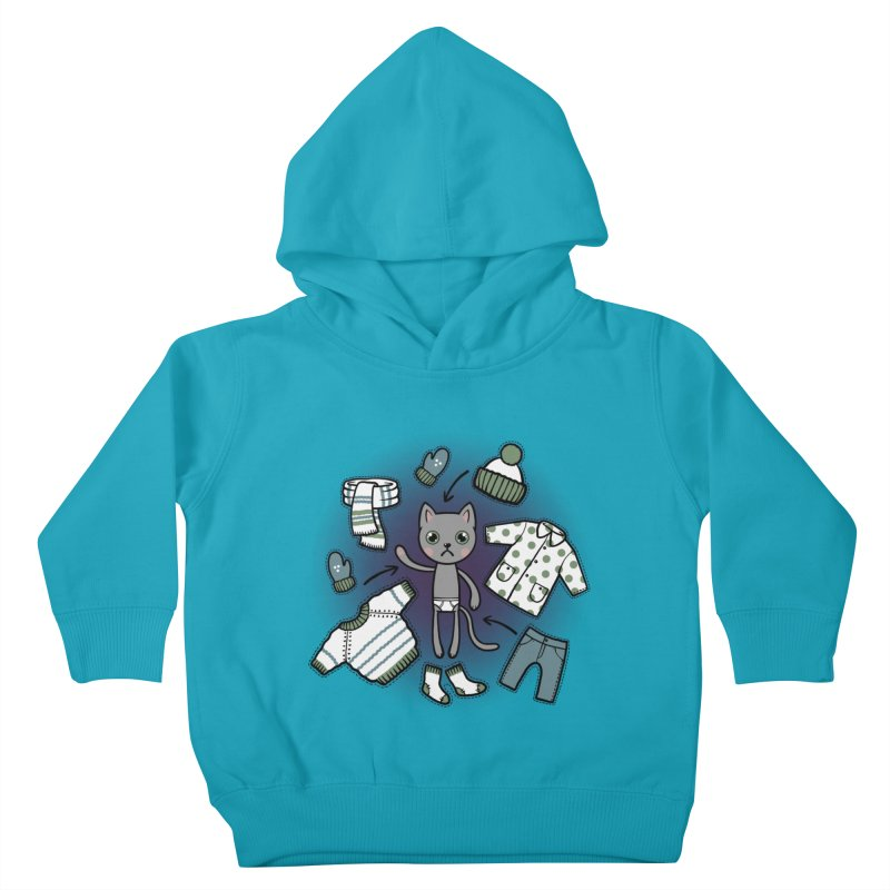 Hello winter... Kids Toddler Pullover Hoody by Crazy Pangolin's Artist Shop