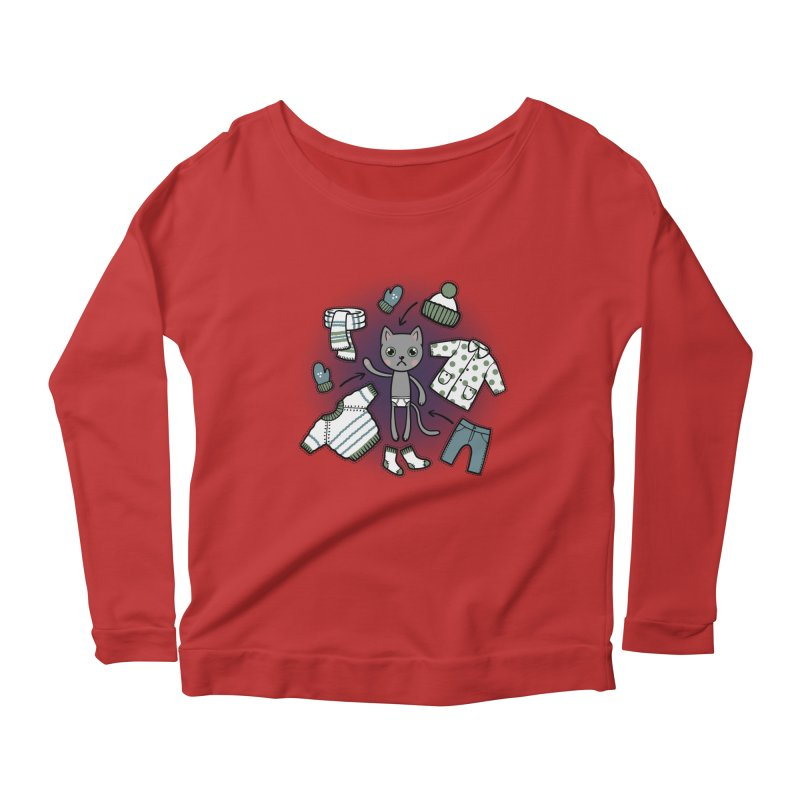 Hello winter... Women's Longsleeve Scoopneck  by Crazy Pangolin's Artist Shop