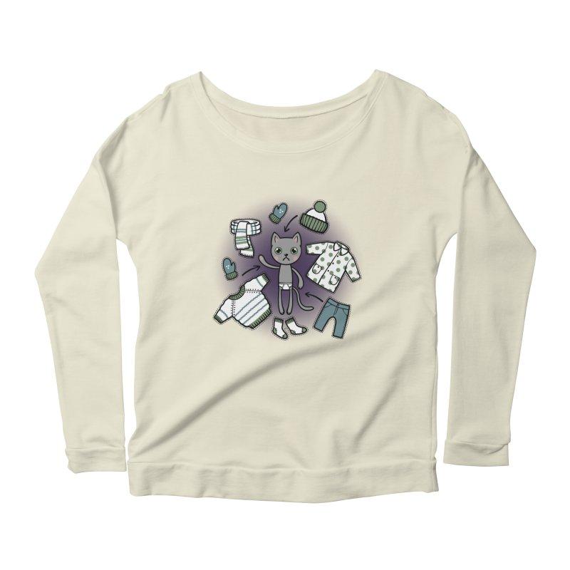 Hello winter... Women's Scoop Neck Longsleeve T-Shirt by Crazy Pangolin's Artist Shop